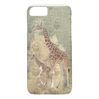 Mom Giraffe and Baby Family iPhone 7 case