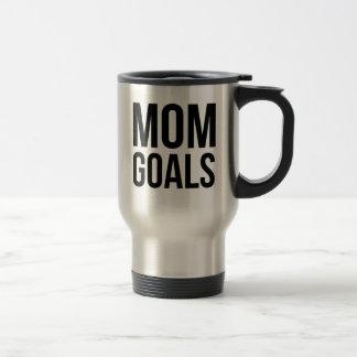 Mom Goals Gift for Mom, Shirts for Mom Travel Mug