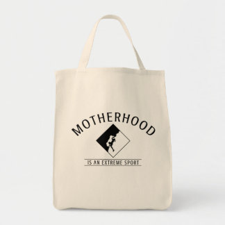 Mom Grocery Bag: Motherhood is an Extreme Sport Tote Bag