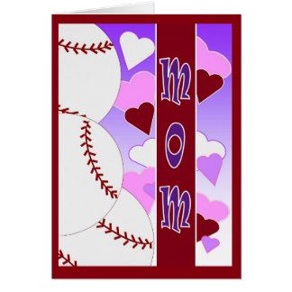 Mom - Happy Valentine's from Baseball Fan/ Player Card