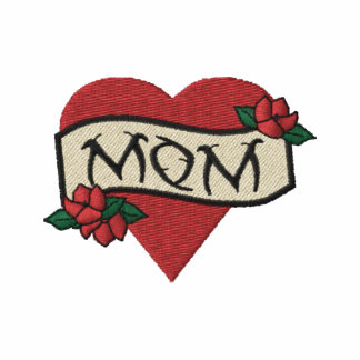 Mom Heart Tattoo Embroidered Jacket