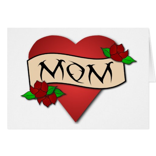 Mom heart tattoo Mother's Day card