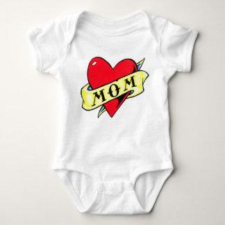 Mom Heart Tattoo Tee Shirt