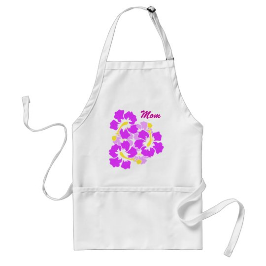 Mom Hibiscus Flower Apron
