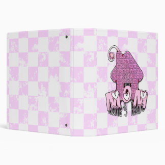 MOM HOME'S HEART 3 RING BINDER