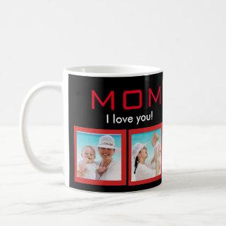 Mom I love you Photo Collage White Classic Mug