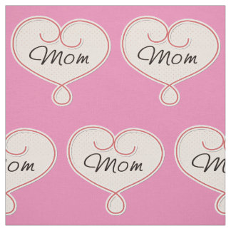 Mom in Heart Fabric