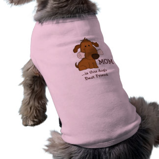 MOM is Dog's best friend/Cute Dog with Newspaper Doggie T Shirt