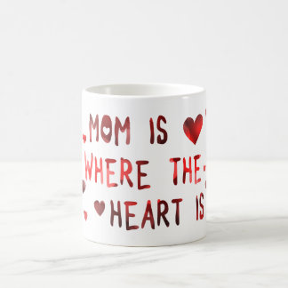 mom is where the heart is bokeh coffee mug