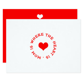 mom is where the heart is button card