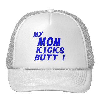 Mom Kicks Butt Trucker Hats
