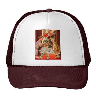 Mom Kisses Santa Claus Mesh Hats