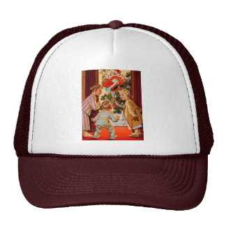 Mom Kisses Santa Claus Trucker Hat