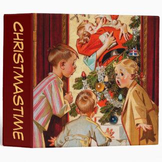 Mom Kisses Santa Claus Vinyl Binders