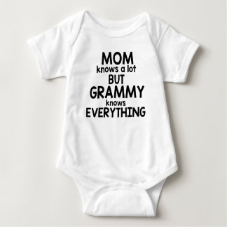Mom Knows A Lot But Grammy Knows Everything Baby Bodysuit