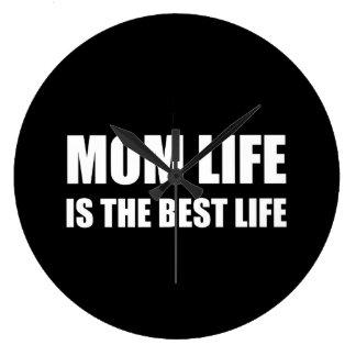 Mom Life Best Life Large Clock