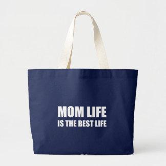 Mom Life Best Life Large Tote Bag
