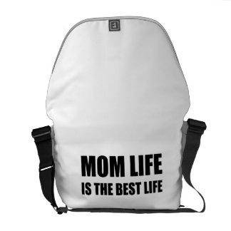 Mom Life Best Life Messenger Bag