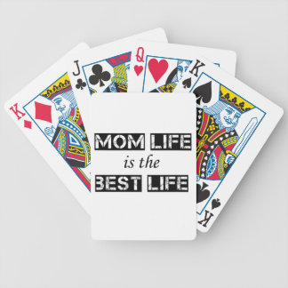 mom life is the best life bicycle playing cards