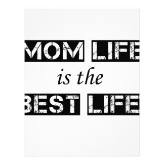 mom life is the best life letterhead