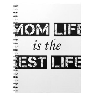 mom life is the best life spiral notebook