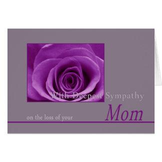 Mom loss Rose sympathy Card