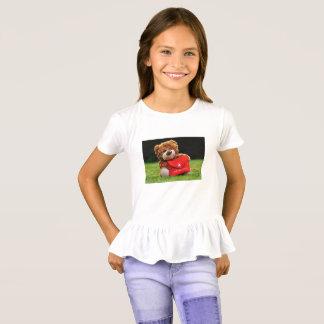 Mom Love Girls' Ruffle T-Shirt