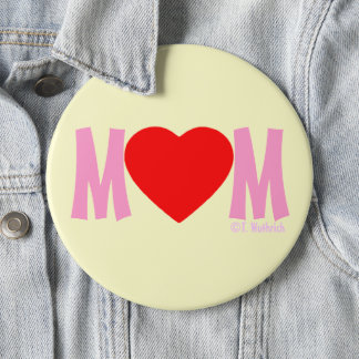 MOM Love Mother's Day Gift Button