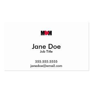 """MOM"" - M <3 M - Heart Design Business Card"