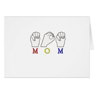 MOM MOTHER NAME ASL FINGER SPELLED ASL CARD