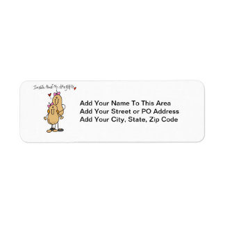 Mom - Nuts About My Daughter T-shirts and Gifts Return Address Label