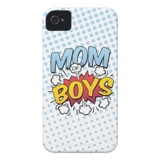 Mom of Boys Mother's Day Comic Book Style iPhone 4 Case-Mate Case
