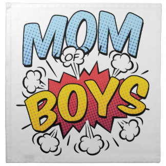 Mom of Boys Mother's Day Comic Book Style Napkin