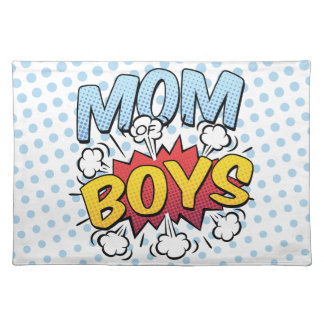 Mom of Boys Mother's Day Comic Book Style Placemat