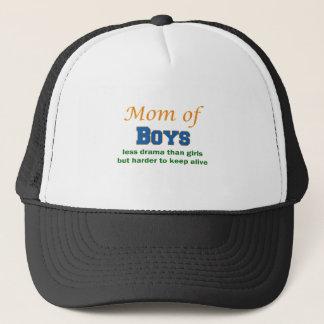 Mom of Boys Trucker Hat