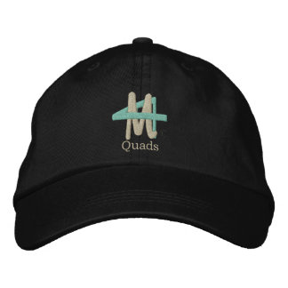 Mom of Quads 4-Drk Embroidered Hat