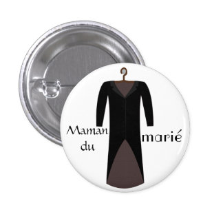 Mom of the groom swipes in 1 inch round button