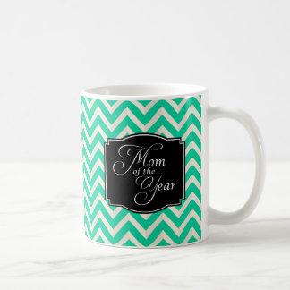 Mom of the Year Chevron Stripes Coffee Mug