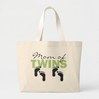 Mom of Twins Large Tote Bag