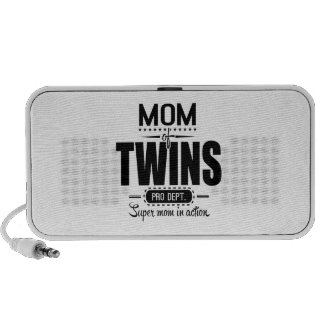 Mom Of Twins Pro Dept. Super Mom In Action Notebook Speakers