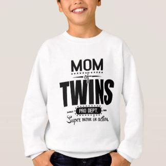 Mom Of Twins Pro Dept. Super Mom In Action Sweatshirt