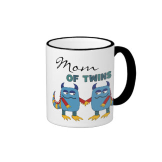 Mom of Twins Ringer Coffee Mug