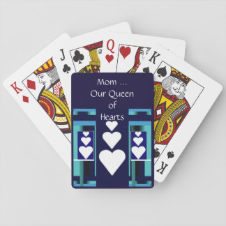 MOM, Our Queen of Hearts Playing Cards/Blue Poker Deck