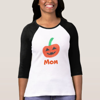 Mom Pumpkin Face Halloween Custom T-Shirt