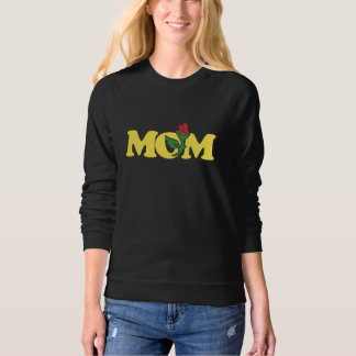Mom red rose sweatshirt