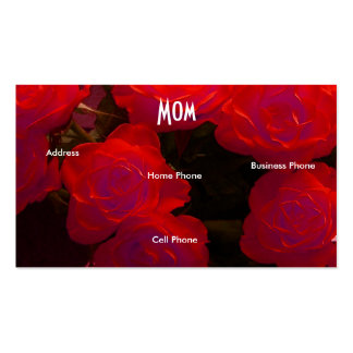 Mom Red Roses Double-Sided Standard Business Cards (Pack Of 100)