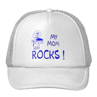 Mom Rocks ! (blue) Trucker Hat