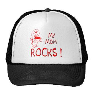 Mom Rocks ! (red) Trucker Hat