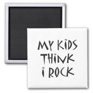 Mom Rocks Square Magnet