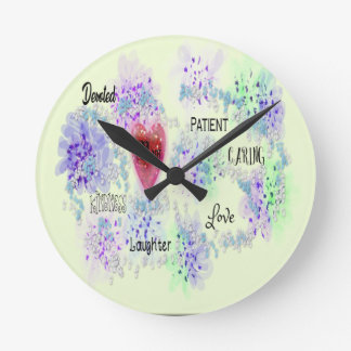 Mom Round Clock